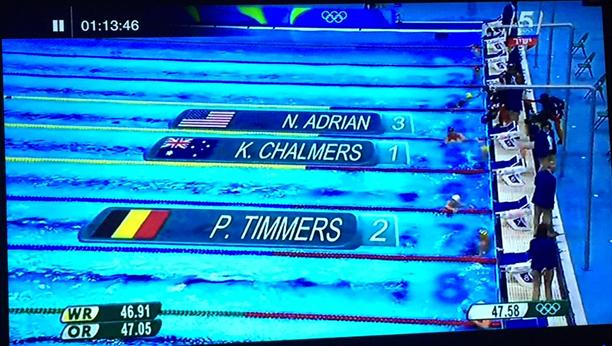 olympic 100 m. 1